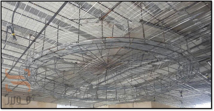 استفاده از رابیتس در ساخت پیش سازه سقف